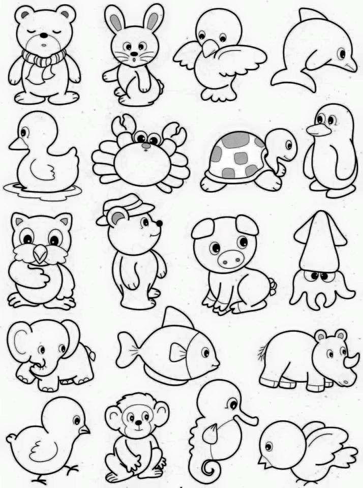 маленькие картинки для распечатки черно белые животные предметы быта действие необходимо