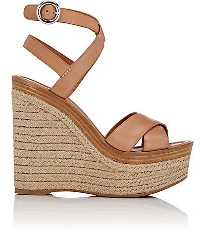 We Adore: The Crisscross Ankle-Strap Platform Sandals from Prada at Barneys  New York