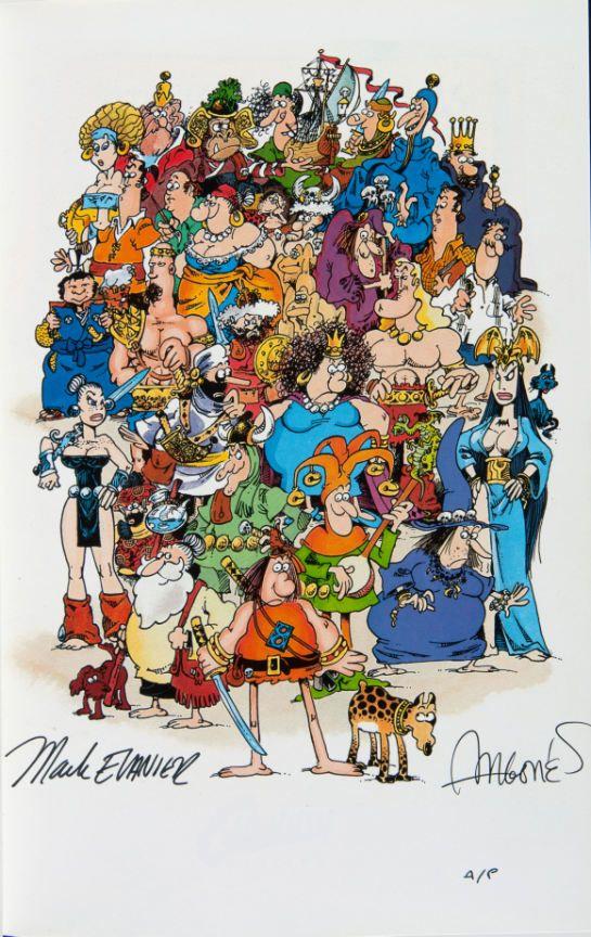 Dibujo de mi admirado Sergio Aragonés: Groo Family by Sergio Aragones.