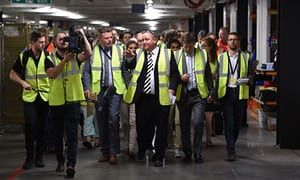 Sports Direct's open day at notorious warehouse is not quite glasnost