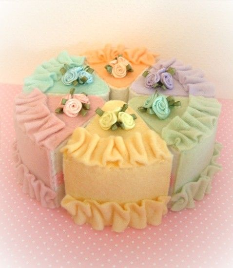LOVELY MINI cake felt food cake slices by nicolaluke on Etsy