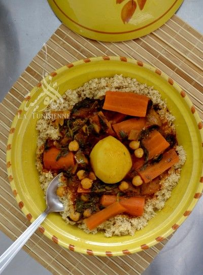 Couscous végétarien à la gafsienne | La TunisienneLa Tunisienne
