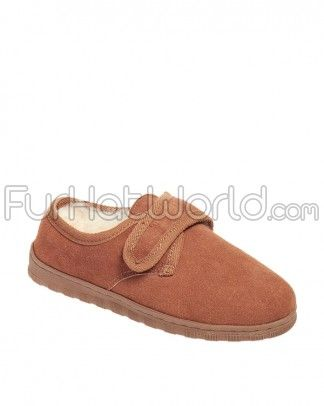 Shop FurHatWorld for the best selection of Women's Slippers & Moccasins. Buy the Ladies Sheepskin Slippers with Velcro Closure with fast same day shipping.