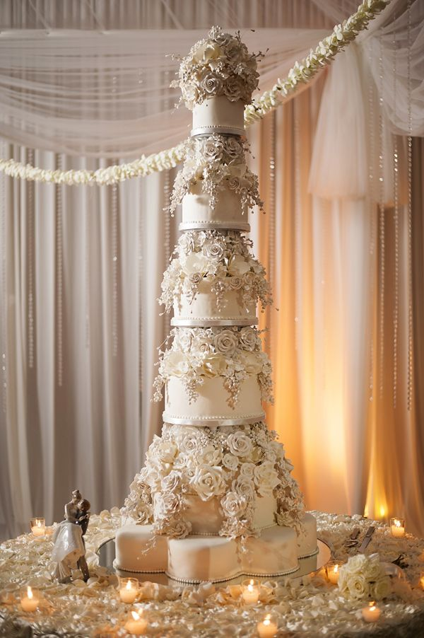 this is the tallest wedding cake I ve ever seen  beautiful  but tall     this is the tallest wedding cake I ve ever seen  beautiful  but tall     Personal Wedding Style   Pinterest   Tall wedding cakes  Wedding cake and  Cake