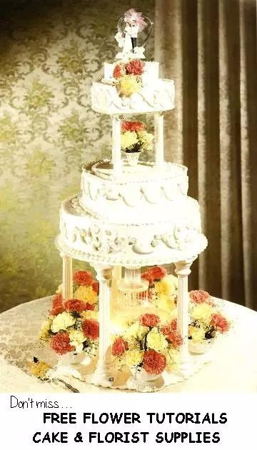 Fresh Flower Wedding Cakes You Will Need To Cover Up Your Mechanics Of Water Fountain Or Silk Roses Can Be Ringed Around The As Part