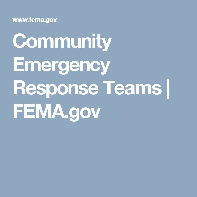 Community Emergency Response Teams | FEMA.gov