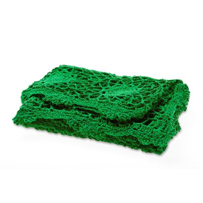 Crochet Throw in Emerald