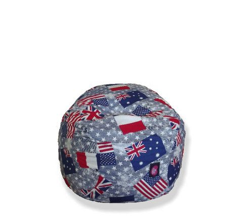 Gamer chair cotton print flags red white blue – TheBeanBag