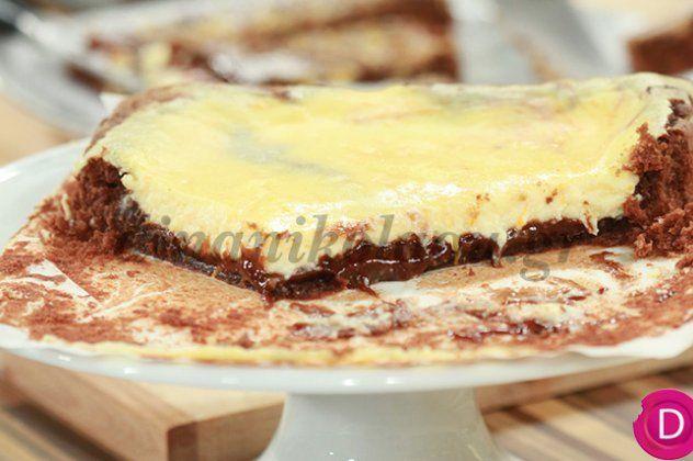Υπέροχο γλυκό με δύο αγαπημένες γεύσεις μαζί. Brownies και cheesecake. Απολαύστε το με μια μπάλα παγωτό.