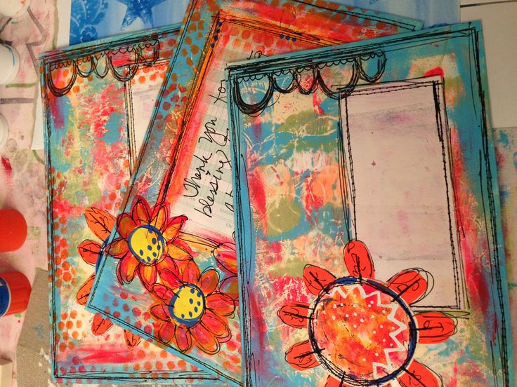 painted envelopes ... Mail Art Monday too pretty to put into the mailbox ...