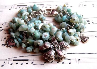 Bransoletka Charms Amazonit #bransoletka #bracelet #jewelry #jewellery #bizuteria #amazonit #amazonite #gemstones