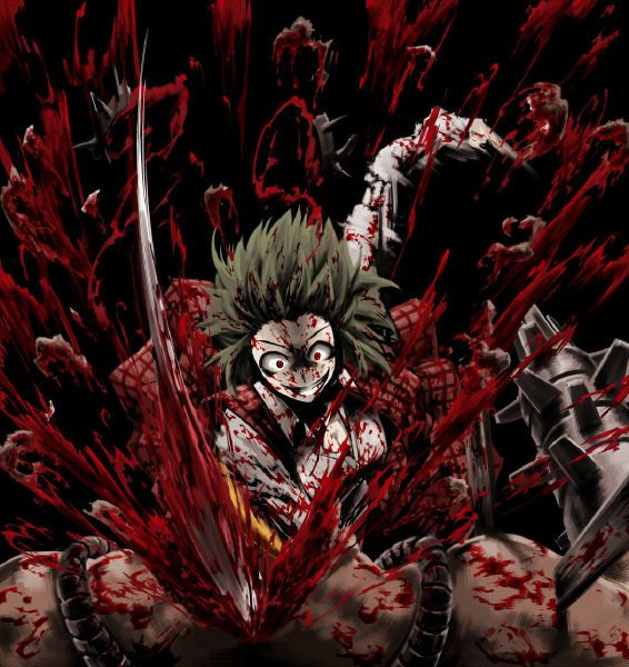 Even I think this bloody anime wallpaper is over the top.