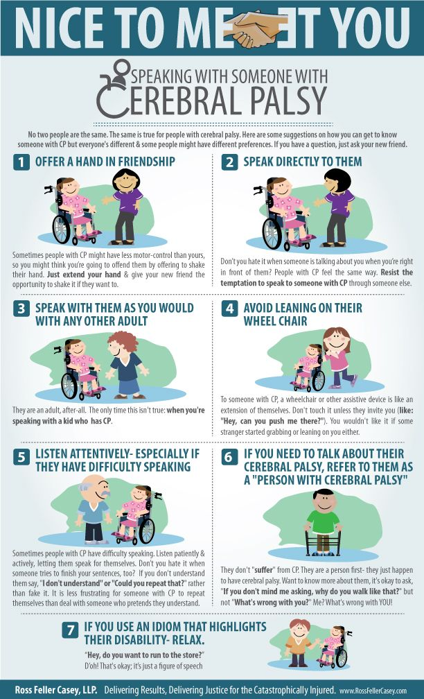 How To Speak With Someone With Cerebral Palsy (Infographic) @The Mobility Resource #disabilities
