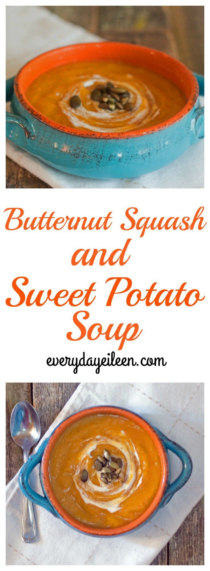 Butternut squash and sweet potato soup is a low-fat, low-calorie soup.  A soup filled with flavor and antioxidants. Perfect for any day of the week and great for any Holiday table.