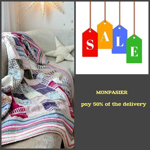 Throw  Patchwork Knit Crochet Blanket . #Throw_Blanket #Patchwork_Blanket #Knit_Bedding #Crochet_Blanket #Home_Blanket #Knitted_Blanket #Wool_Blanket #Soft_Blanket #Christmas_Gift #Bed_Blanket #Warm_Blanket #Large_Blanket #Cozy_Blanket #Christmas_gift