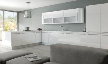 Zurfiz Ultragloss White Kitchen - By BA Components, kitchen doors, interior design