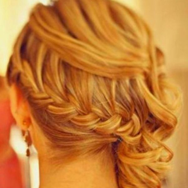 braided sidedo hairstyles pintrest | Loosely braided side do | Wedding Ideas