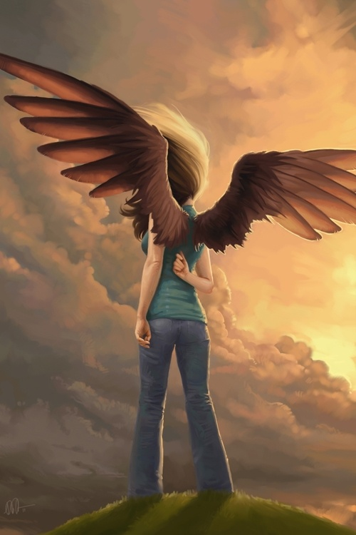 Gabby McMillan, this is a not oftenly talked about fandom, it is Maximum Ride (a book series by james patterson, fandom name is the flock). It's a great adventure series if you liked the books Hunger Games and Divergent.