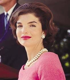 Mrs. Kennedy in pink.