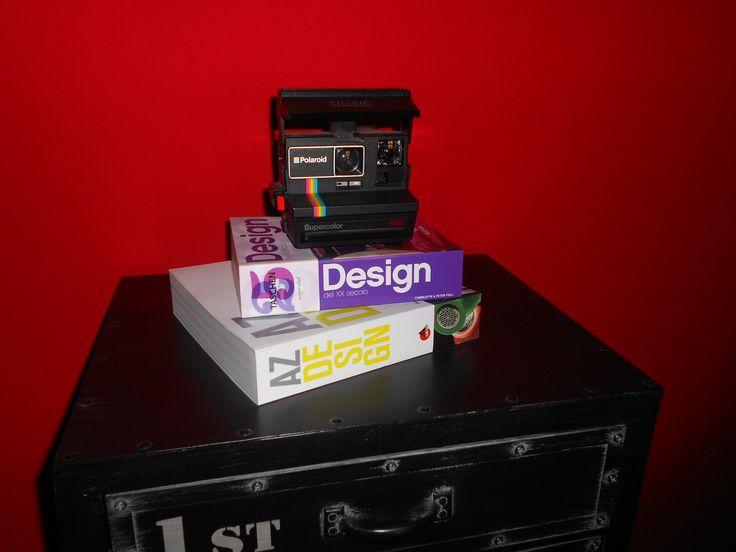 #polaroid #books #red #design