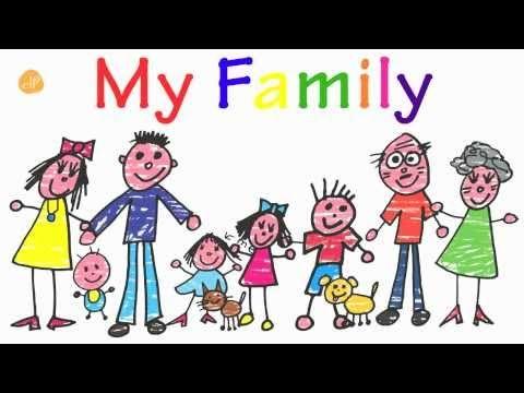 Mijn familie, Engelse Flashcards om aan kleuters Engels te leren, kleuteridee.nl , English flashcards; my family