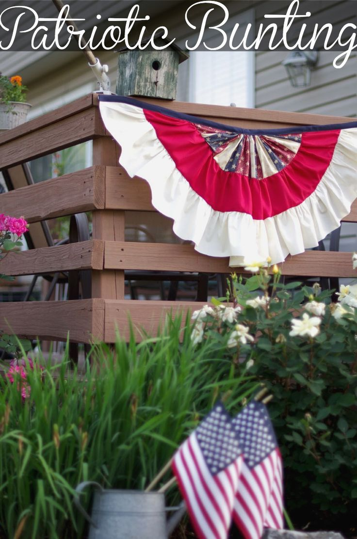 Easy to make Patriotic Bunting | createandbabble.com | #seweasy |