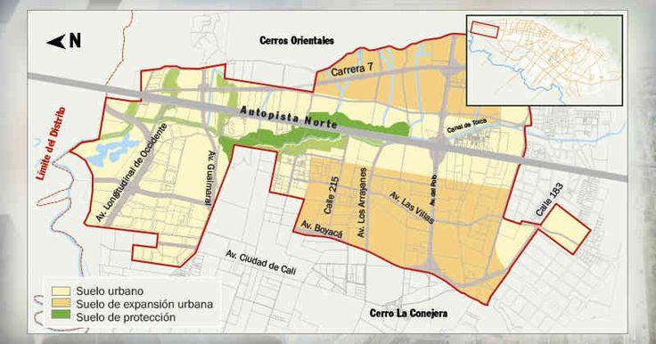 El POZ pretende desbloquear la salida de Bogotá hacia el norte al ampliar la autopista, conectar la avenida Boyacá con la vía Chía-Cajicá-Zipaquirá, llevar la NQS hasta la calle 245 y ampliar la carrera Séptima hasta los límites con Chía.