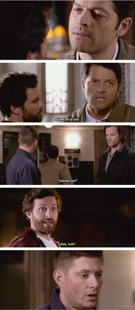 I loved when Lucifer was playing in Sam's room and Sam and Dean were trying to get him out. Like, he just seemed like a big cosmic five year old having a tantrum then. Supernatural 11x22