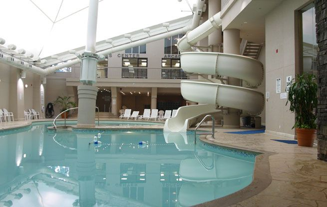 Niagara Hotels Falls View, Hilton Amenities, Suite and Room Comforts- they have a pool, yes.