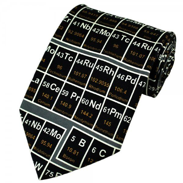 Periodic Table Silk Novelty Tie