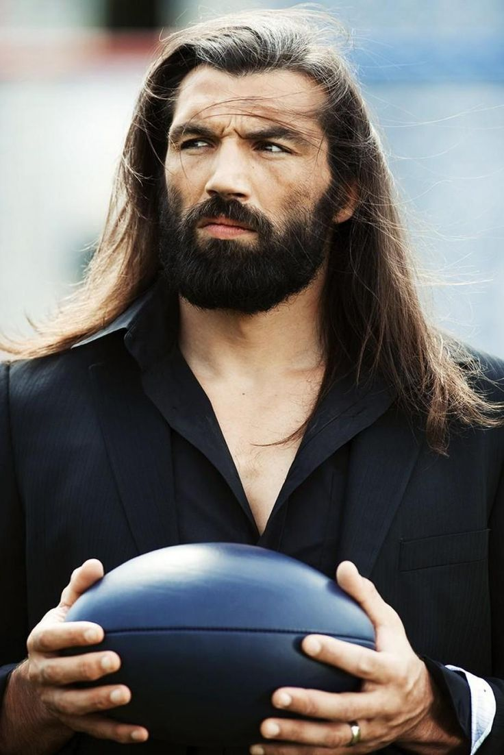 Sébastien Chabal, French rugby union player. Ok so on the rugby pitch he is a mad man but this is the cleanest I've ever seen him look and he's kinda hot!