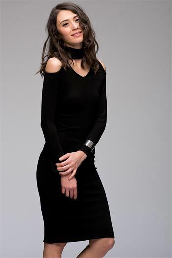 OMZU AÇIK TRİKO ELBİSE www.fashionturca.com