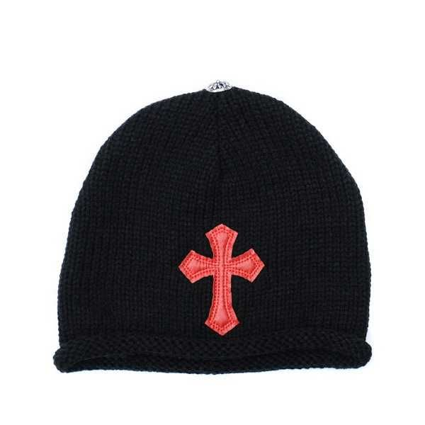 Red Chrome Hearts Patch Knit Cross Cap Buy Online