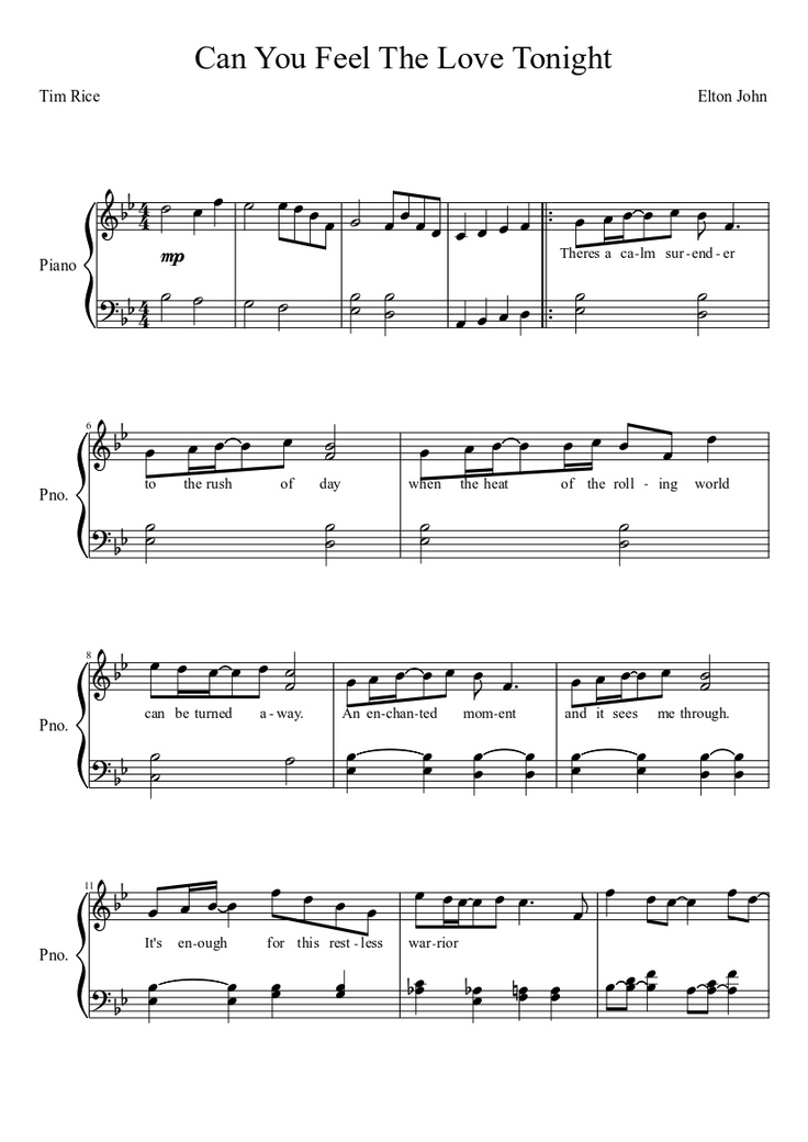 All Music Chords can you feel the love tonight sheet music : 14 best Piano images on Pinterest | Piano, Pianos and Sheet music