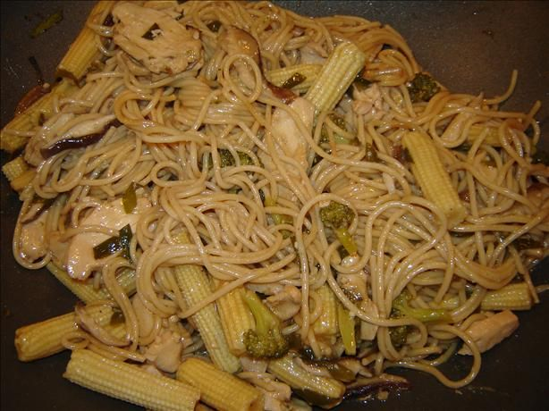 Chicken Lo Mein from Food.com:   								I love Chinese food and I'm always looking for recipes. I don't remember where this came from, but it's good!