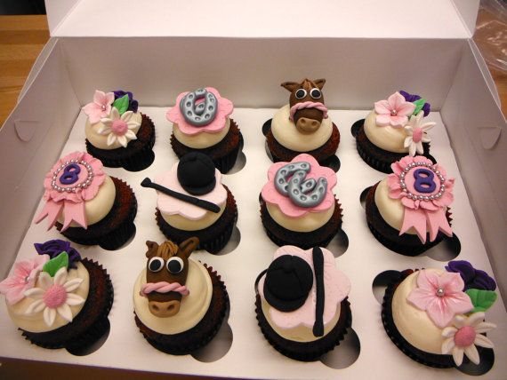 Horseback Riding Themed Cupcake Toppers On Etsy 48 00