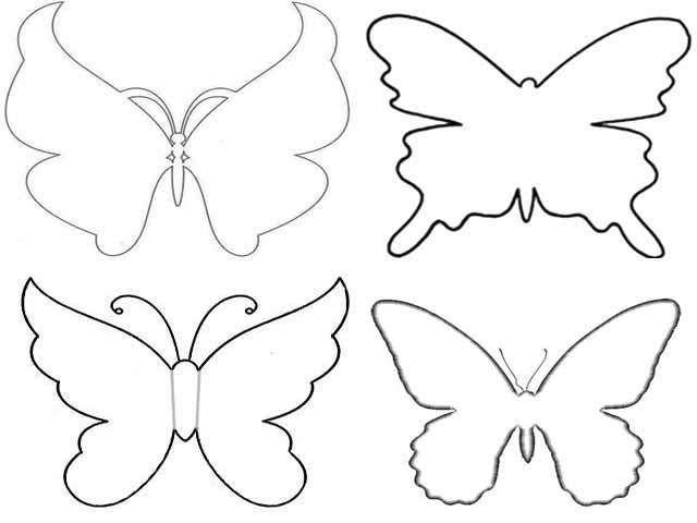 Бабочки своими руками из бумаги на стену - трафареты, инструкция ...