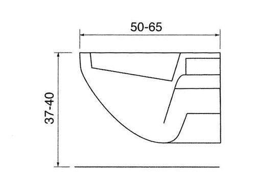 l 39 encombrement d 39 un wc suspendu dimensions guide mesures r gles d 39 agencement pinterest. Black Bedroom Furniture Sets. Home Design Ideas