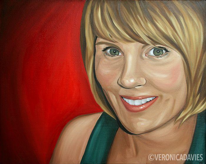 "Self Portrait 2, Oil, 24"" x 36"""