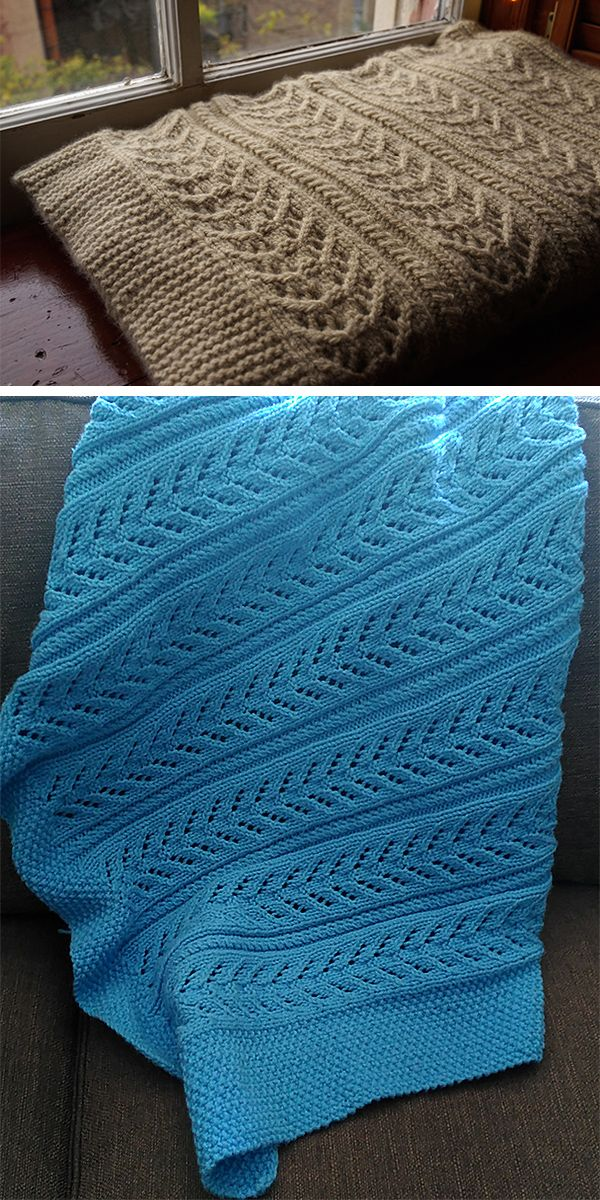 811424fb2f64 Free Knitting Pattern for 6 Row Repeat Cable and Lace Baby Blanket ...