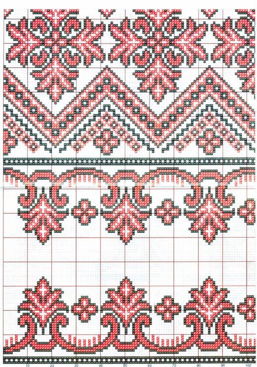 Схемы украинских вышиванок / Scheme of Ukrainian embroidery