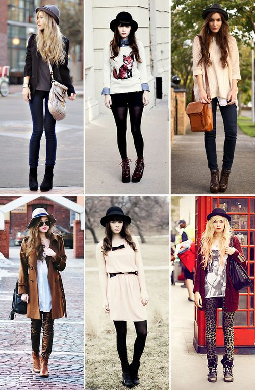 I love these outfits! they would be perfect for fall!! The hats and cardigans are to die for!