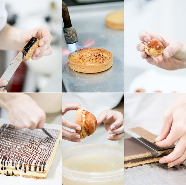 This is hands on work as a pastry chef. a Few techniques are shown here. I will soon have the chance to learn all this.