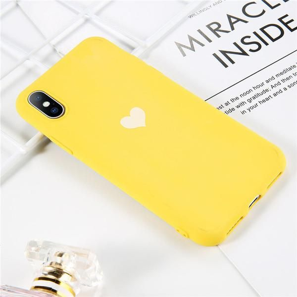 Luminous Silicon Case For Iphone X Xs Xr Xs Max 8 6 6s 7 Plus Phone Case Cartoon Love Heart Feather Crown Iphone Iphone Cases Phone Cases