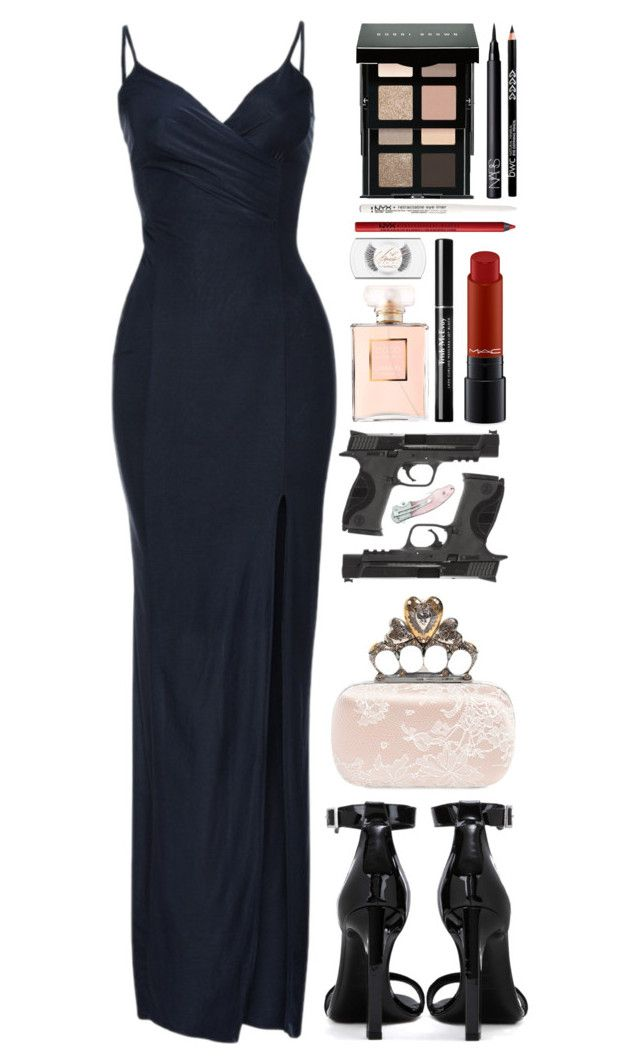 """""""S.H.I.E.L.D. Agent Peñarubia // Undercover Mission"""" by zzeelleestyles ❤ liked on Polyvore featuring Yves Saint Laurent, Alexander McQueen, Bobbi Brown Cosmetics, NARS Cosmetics, NYX, MAC Cosmetics, Chanel, Smith & Wesson and Handle"""
