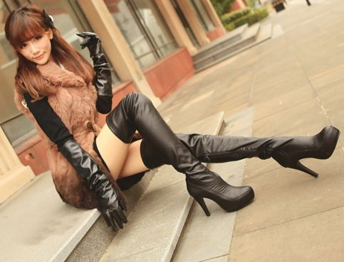 Seldom.. possible asian girl in high boots
