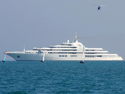 Dubai is the name of a yacht currently owned by Sheikh Mohammed bin Rashid Al Maktoum, the ruler of the Emirate of Dubai and the Prime Minister of the United Arab Emirates. This vessel is 524 feet, 10 inches (162 m) long, is the second largest yacht in the world after Eclipse.