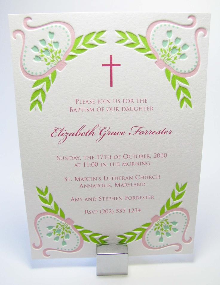 Baptism invitation?