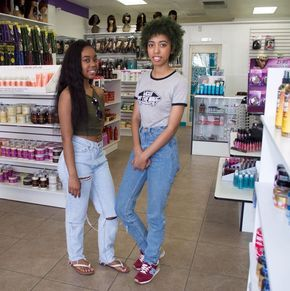 Teen Sisters Are Youngest Owners of Beauty Supply Store In California Sisters, 19-year-old Kayla and 21-year-old Keonna Davis opened a beauty supply store in Moreno Valley, California to service their community.