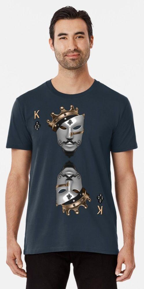 22d0fd847 T shirt king of clubs  |king|clubs|mask|crown|gold|game|card|cards|patern|design|modern|unique| tshirt|t-shirt|art|3d|3d ...